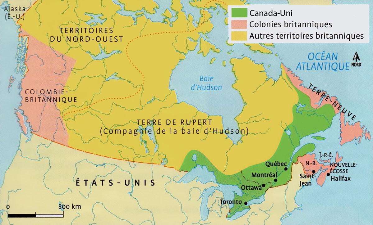Les Colonies Britanniques Damérique Du Nord 1840 1867