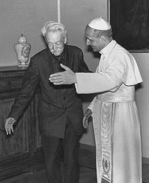 Maritain et le pape Paul VI